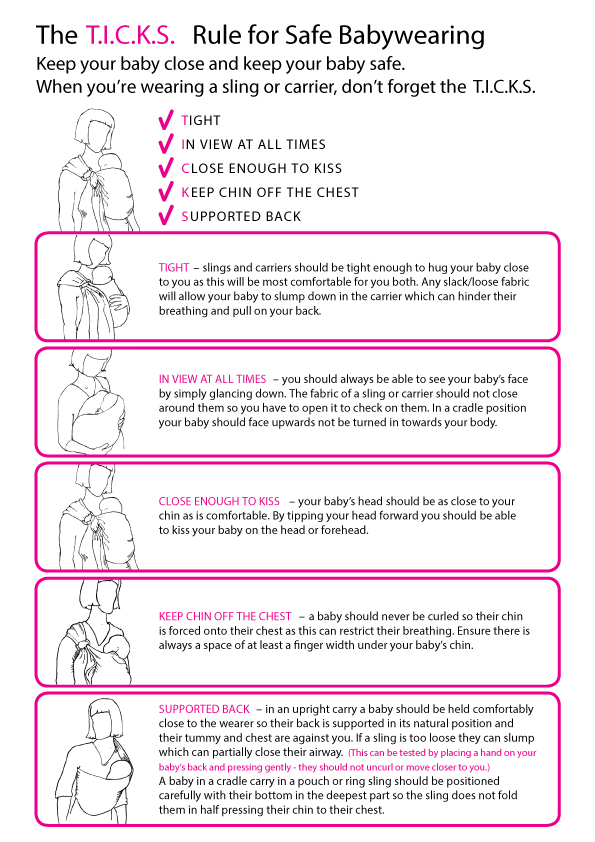 Baby Sling Safety The T I C K S Rule For Safe Babywearing